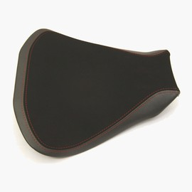 Seat rider no-slide leather/neoprene silver