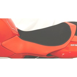 Seat rider no-slide leather / neoprene red