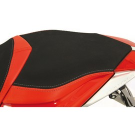 Seat passenger no-slide leather / neoprene red