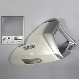 Lower fairing vtr pearl white / silver grey